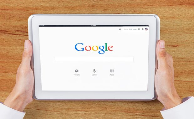an ipad using google to show four bad practices of SEO that any digital marketing agency should avoid