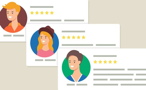 online reviews for a business that is generating multiple leads a month due to good reviews on their website