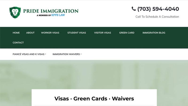 Pride Immigration Desktop Screenshot
