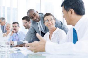 business meeting for a Fairfax, VA digital marketing company