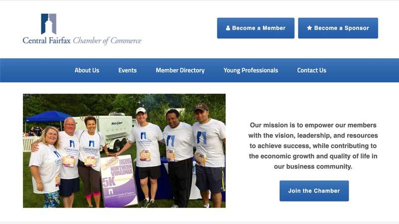 Central Fairfax Chamber of Commerce Desktop Screenshot