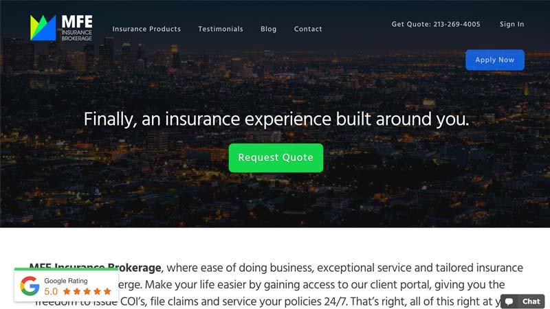 MFE Insurance Desktop Screenshot