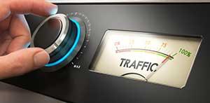 Image depicting increased unique website traffic through dental marketing