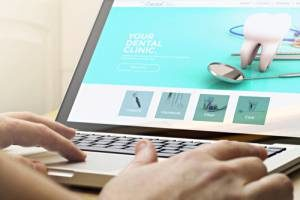 customers browsing dental marketing content on a local dentist's website