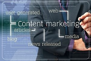 a content marketing diagram that shows the key components to any effective content marketing campaign