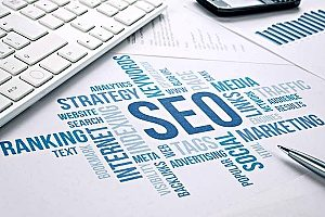 a diagram that shows search engine optimization and its key components which is great for any insurance agency