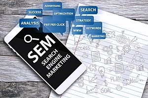 a search engine marketing diagram that shows how search engine marketing is important to any dental internet marketing strategy