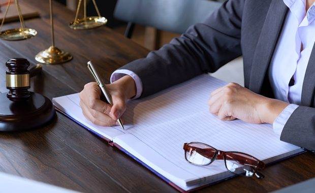 an attorney writing about a case study to showcase his previous work for a part of his law firm marketing campaign