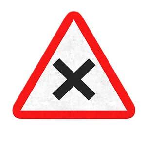 Danger symbol for black hat SEO