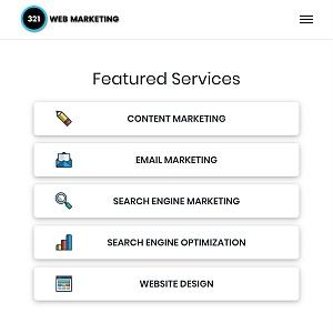 321 web marketing mobile view