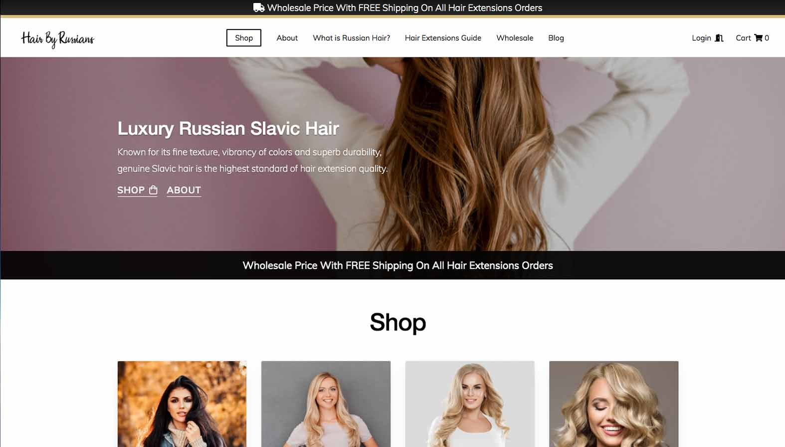 Hair by Russians Desktop Screenshot