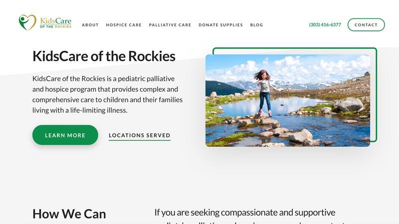 Kids Care of the Rockies Desktop Screenshot