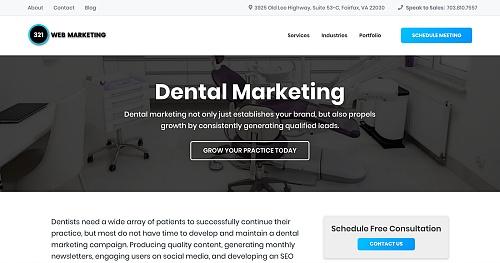 321 Web Marketing - dental marketing service page