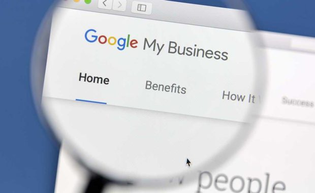 magnifying glass representing how to optimize google my business account